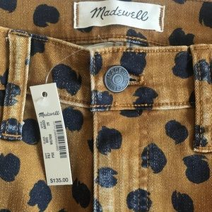 "Madewell Pants - Madewell 10"" Mid-Rise Skinny Jeans Painted Spots"